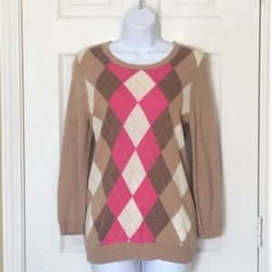 J. Crew Argyle Print Sweater